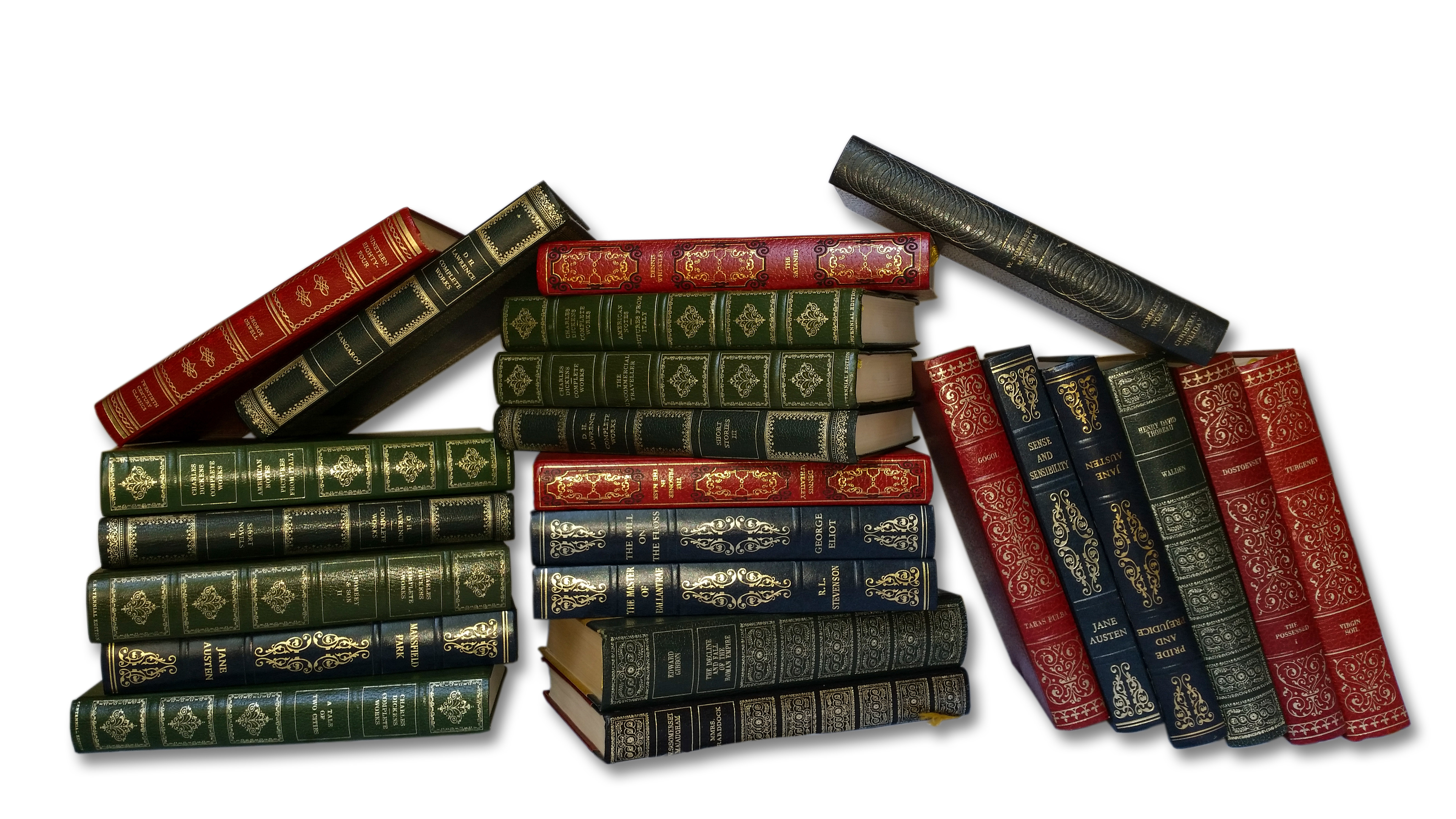 VINTAGE FAUX LEATHER BOOKS PER METRE