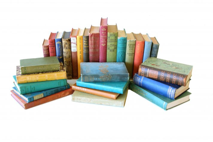 Mixed Vintage books per metre